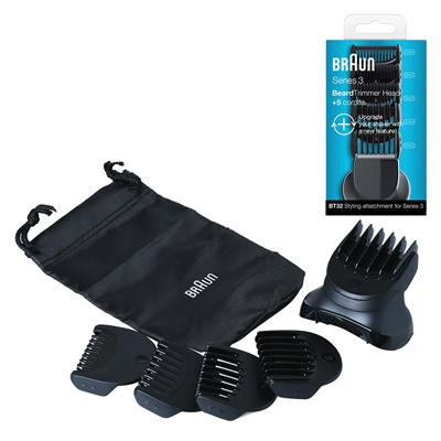 Qoo10 - Braun Series 3 Shave Style BT32 Trimmer Head 5 Combs ... e8bdad501d36