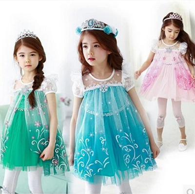 dcdfb5739 Bridesmaid formal dress Princess Frozen Dress /sweet girl one-piece/shoes/ Hello