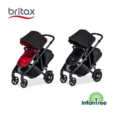 Britaxbritax B Ready Double Stroller 2017 Black Poppy Colour