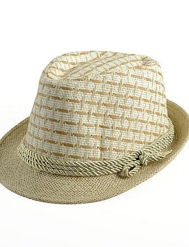6ea53dcf60f Qoo10 - British Jazz Cap Bucket Hat Grid Straw Hat Man Spring and Summer  Trave...   Fashion Accessor.