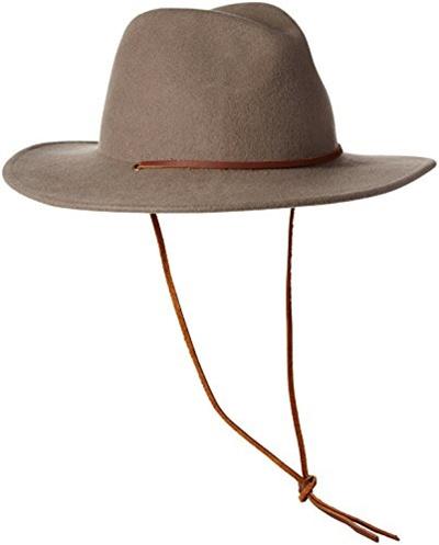 Qoo10 - Brixton Mens Field Wide Brim Felt Fedora Hat   Men s Bags ... 8f43a8a5a03