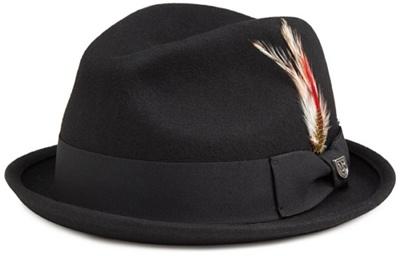 12f20872f1e0 Qoo10 - Brixton Men s Gain Felt Fedora Hat, Black Felt, XL ...
