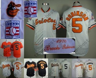 big sale 71ab0 4752e Brooks Robinson Jersey 1970 & 1975 Vintage Cream Orange Baseball Baltimore  Orioles Retro Jerseys