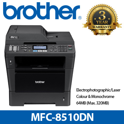 Brother [Brand NEW] Brother Laser MFC Printer MFC-8510DN / Print Copy Scan  Fax Wired Network Autoduplex print Google Cloud AirPrint / Mono A4 / Local