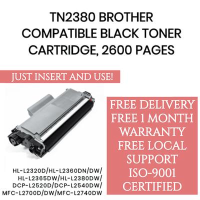 BROTHER TN2380 COMPATIBLE TONER CARTRIDGE DCP-L2540DW/HL-L2360DN  /HL-L2365DW/MFC-L2700DW/MFC-L2740DW