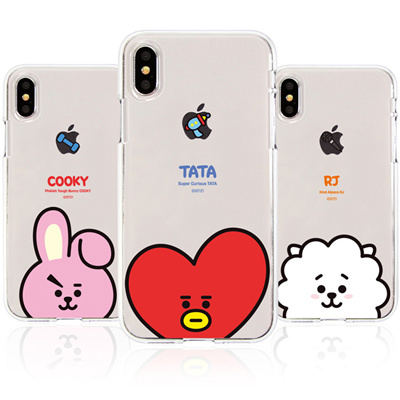 sale retailer b672a 39ecb BT21★ Line Friends ★ BT21 Clear Jelly Case ★ iPhone X / iPhone 8 / iPhone 7  ★ Galaxy Note8 / S9 / S8 ★