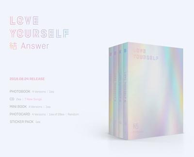 [BTS 防彈少年團] LOVE YOURSELF 結 Answer (S+E+L+Fver  SET]) 4CD Set/ 4 albums /  2018 NEW Album IDOL