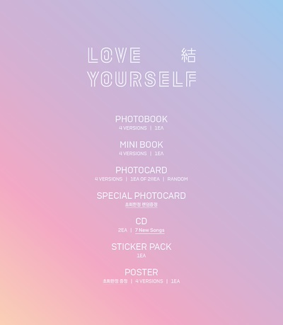 Bts Bangtan Boys Love Yourself Mini Photo Card 2sets Japan Ver