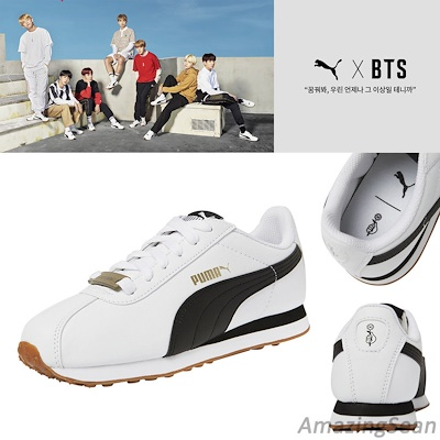 wholesale dealer 61c38 be2b2 [PUMA]BTS Official Goods - PUMA X BTS TURIN Shoes + Photo Card BANGTAN BOYS  Sneakers. NEW BTS SHOES