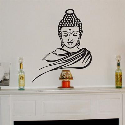 qoo10 - buddha wall stickers vinyl decal religion buddhism faith