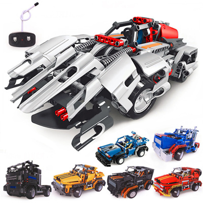 Building Blocks Electrical Remote Control Cars Kids Children Educational  Toy Hot Selling
