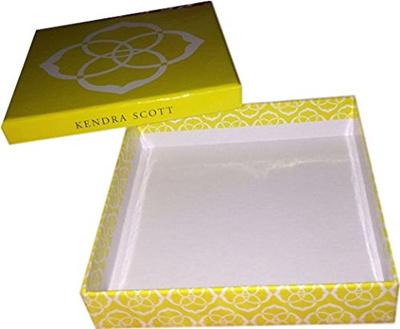 Bulk Buy 6 Empty Kendra Scott Yellow Necklace Bracelet Gift Boxes