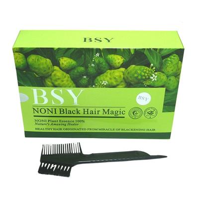 [BUNDLE 4 BOX PROMO] BSY Noni Black Hair Magic Organic Dye Shampoo 100%