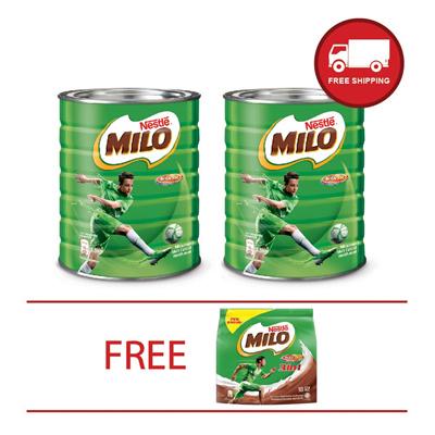 Qoo10 - [BUNDLE MILO] MILO 1.5kg tin x2 + MILO Activ-Go 18 sticks~~EVEN BETTER... : Groceries