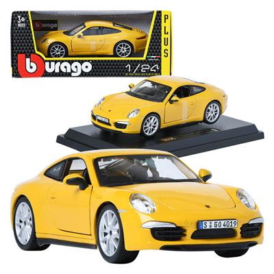 Qoo10 Burago Porsche 911 Carrera S Yellow 1 24 Mini Car