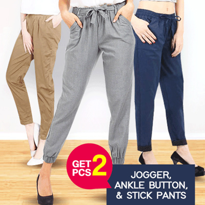 BUY 1 GET 1  BEST SELLER Casual Pants Stretch 12 WARNA Good Quality   b8a1fba10c