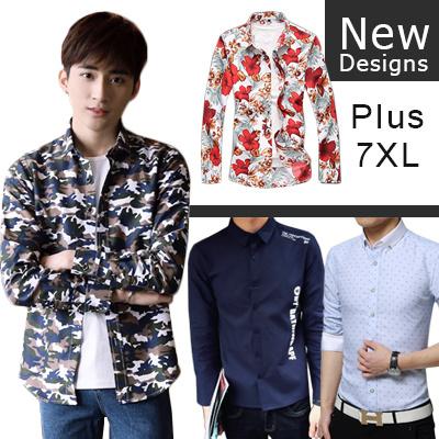 05f798d4e599 Qoo10 - Buy 2 Free shipping 2017 Autumn Korean Fashion Shirts Plaid  Slim   Cas...   Men s Clothing
