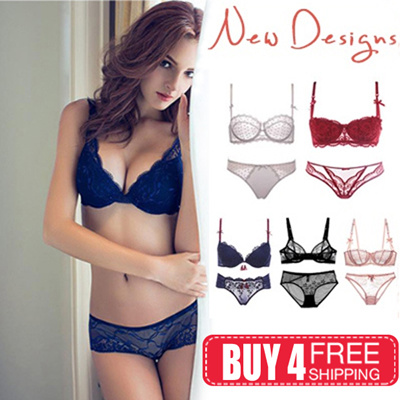 ce32c37f6e Qoo10 - ☆buy 4 free shipping☆2018 CNY Sexy lace bra set PUSH UP Lingerie Bra...    Underwear   Sock.