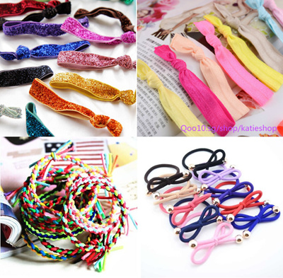df66d5dd6a6aa [BUY 5 FREE 1]Korean/Western Style Knotted Hair Ties*Free Shipping for  Purchase Abv S$3.9*Hair Accessories*Fashion Elastic Hair Ties *Rabbit Ear  Hair ...