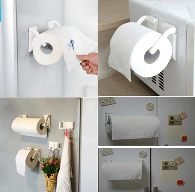 Magnetic Paper Towel Holder Kitchen Paper Towel Rack For