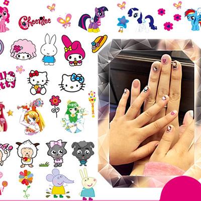 Qoo10 - Bybrana Korean version children nail stickers baby girl ...