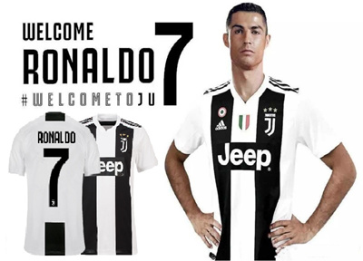 lowest price 370d9 dd12b C Ronaldo Juventus 18-19 Season NO.7 Home Jersey soccer suitman children  babies(Can print your name