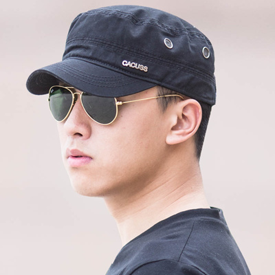 96f2f0a0a12 CACUSS Korean military surges caps flat caps Hat Cap solid color in summer  in spring tide