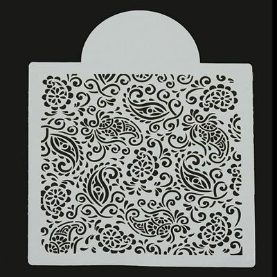 Qoo10 Cake Stencil Henna Paisley Design Cookie Stencil Craft