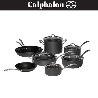 Qoo10 calphalon cookware set commercial nonstick 13 for Qoo10 kitchen set