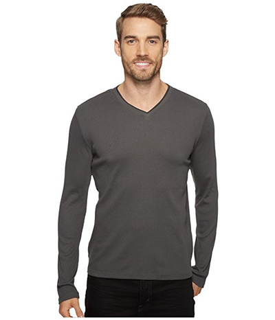 9dfd9c435b5 Qoo10 - Calvin Klein Long Sleeve Rib V-Neck T-Shirt   Men s Clothing