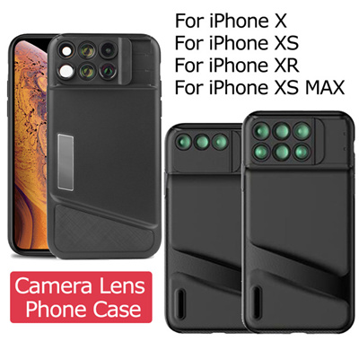 sports shoes 9577a 4e6a5 Camera Lens Phone Case for iPhone X XS XR XS MAX Fisheye Wide Angle Macro  Lens TPU Soft Phone Cover