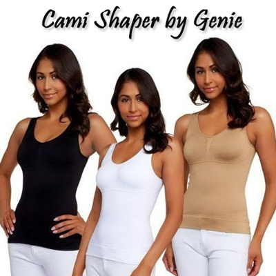 3a11fd19e5  Cami Shaper by Genie Cami Body Shaper Genie Bra ShapeWear Tank Top  Slimming Camisole