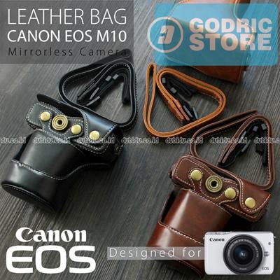 Canon EOS M10 Leather Bag   Case   Tas Kulit Kamera Mirrorless 15-45 MM e94dad8d3b