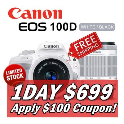Qoo10 - CANON EOS 100D White : Cameras & Recorders