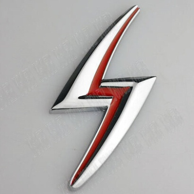 Car Chrome Metal Badge Emblem Lightning S For Nissan Silvia S15 S14 S13  200SX 240SX (