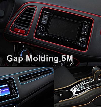 5M Point Edge Gap Line Car Interior Accessories Multi-Color Trim Moulding Strip