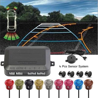 Car Parking Reverse Backup Radar Sound Alert Alarm kit 4 Parking Sensors  Color:1-10