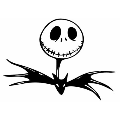 Nightmare Before Christmas Images Black And White.Car Stickers Funny Vinyl Car Styling Decal Nightmare Before Christmas Bat Black Silver Red White 15