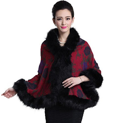 Qoo10 - (Caracilia) Caracilia Women Luxury Bridal Faux Fur