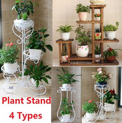 Carbonized Cedarwood Plant Stand Plant Rack Shelf For Outdoor/ Plant  Organizer/ Gardening /Multi