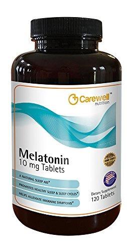 Carewell Melatonin 10 Mg Tabs, 0 14 Pound