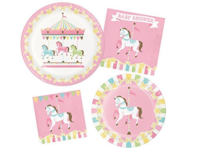 Qoo10 Carousel Horse Pony Merry Go Round Girls Baby Shower Party