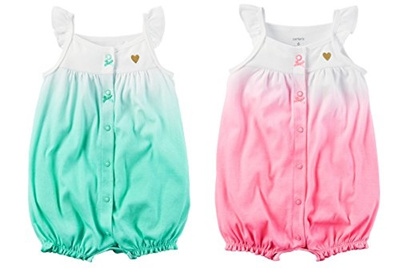 c05f0a7d8 Qoo10 - Carters Baby Clothing Carters Baby Girls 2-Pack Snap up ...