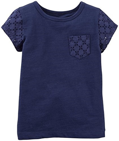 c1b684837fe Qoo10 -  Shipping from USA Carters Baby Girls Lace Pocket Tee (Baby ...