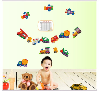 Qoo10 Cartoon Cars Child Room Wall Stickers For Kids Room Boy