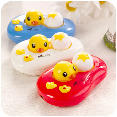 Cartoon Duck Portable Electronic Contact Lens NANO Auto Vibration Cleaner  Washer Cleaning Device USB Battery Operated