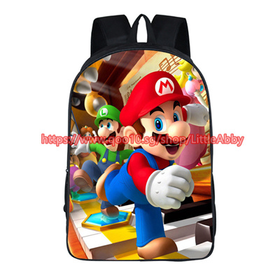 Cartoon Mario   Sonic Backpack Children School Bags Baby Toddler Backpack  Kids Kindergarten Bag Boys e62690c950313