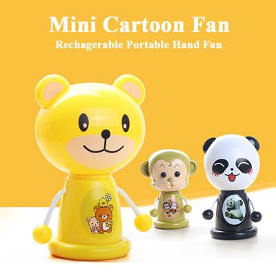 Qoo10 Cartoon Portable Fan Desk Mini Fan Office Bedroom Studying
