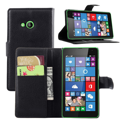brand new 5fa57 ab00a Case for Microsoft Nokia Lumia 535 Flip Leather Book Style Luxury Stand  Wallet Style