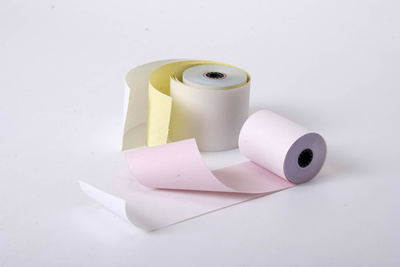 Cash Register Paper 2Ply Premium NCR Paper Roll 76 X 70 X 12MM